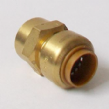 Brass Push Fit Straight 15mm to 1/2 inch Female Thread - 27021500